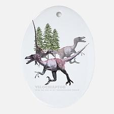 velociraptor.jpg Ornament (Oval)