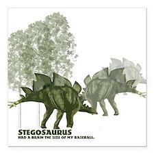"""stegosaurus.jpg Square Car Magnet 3"""" x 3"""""""