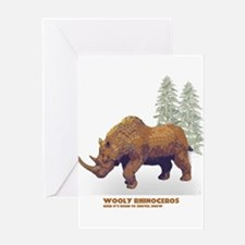 woolly rhino.png Greeting Card