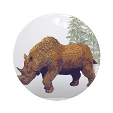 woolly rhino.png Ornament (Round)