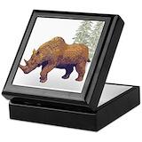 Woolly rhino Square Keepsake Boxes