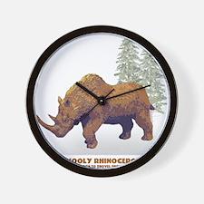 woolly rhino.png Wall Clock