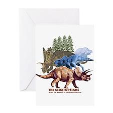 ceratopsians.jpg Greeting Card