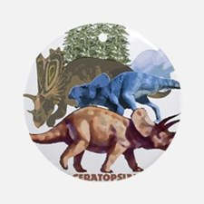 ceratopsians.jpg Ornament (Round)