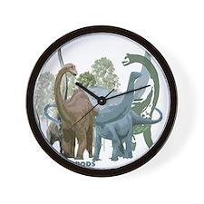 sauropods.jpg Wall Clock