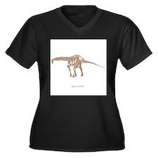 apatosaurus skeleton.png Women's Plus Size V-Neck