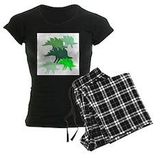 green stegosaurus family Pajamas