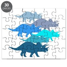 blue triceratops family Puzzle