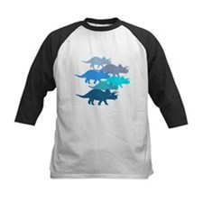 blue triceratops family Tee