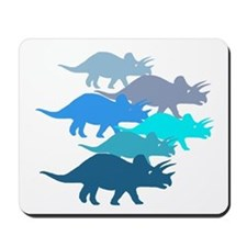 blue triceratops family Mousepad