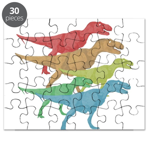 T rex family puzzle by dinosaurtshirts for T rex family
