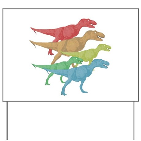 T rex family yard sign by dinosaurtshirts for T rex family