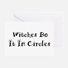 Witches Do It In Circles Greeting Cards (Package o