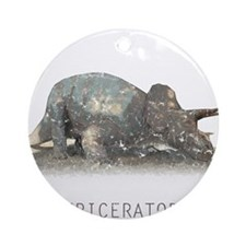 3-triceratops.png Ornament (Round)