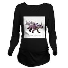 3-styracosaurus.png Long Sleeve Maternity T-Shirt