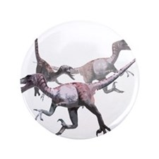 """3-velociraptor.png 3.5"""" Button (100 pack)"""