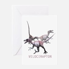 3-velociraptor.png Greeting Card