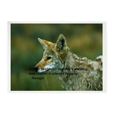 The Coyote is watching 5'x7'Area Rug