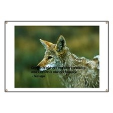 The Coyote is watching Banner