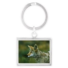 The Coyote is watching Landscape Keychain