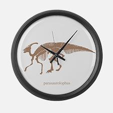 parasaurolophus skeleton.png Large Wall Clock