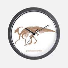 parasaurolophus skeleton.png Wall Clock