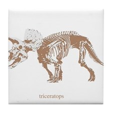 triceratops skeleton.png Tile Coaster