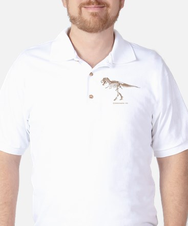 t rex skeleton.png Golf Shirt