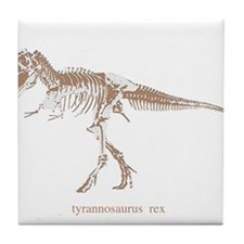 t rex skeleton.png Tile Coaster