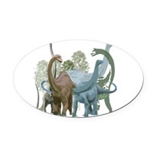 The Sauropods Oval Car Magnet