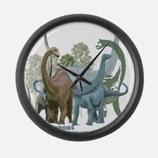 The Sauropods Large Wall Clock