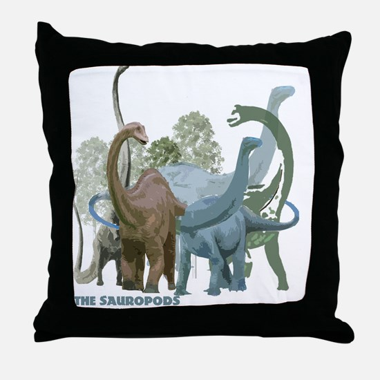 The Sauropods Throw Pillow