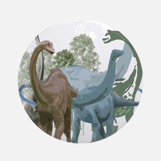The Sauropods Ornament (Round)