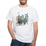 Dinosaur Mens Classic White T-Shirts