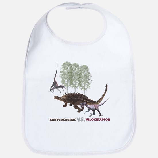 Velociraptor vs. Akylosaurus Bib
