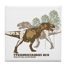 Unique Tyrannosaurus rex Tile Coaster