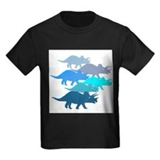 Blue Triceratops Family T