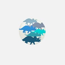 Blue Triceratops Family Mini Button (10 pack)
