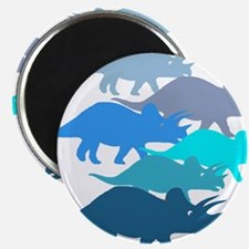 """Blue Triceratops Family 2.25"""" Magnet (10 pack)"""