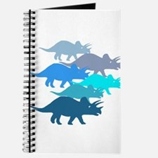 Blue Triceratops Family Journal