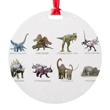Unique Raptor dinosaur Ornament