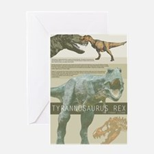 t rex poster.png Greeting Card