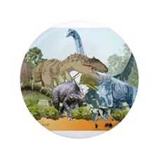 """jurassic.png 3.5"""" Button (100 pack)"""