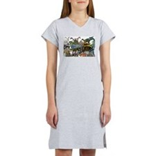 ALL WHITE.png Women's Nightshirt