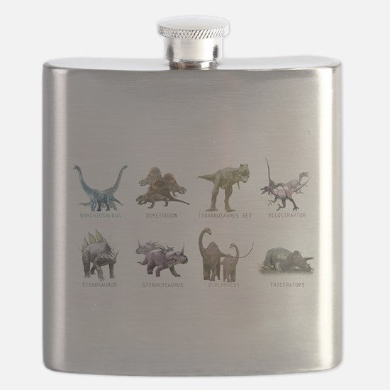 Cute Dinosaurs Flask