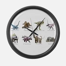 Cute Dinosaurs Large Wall Clock