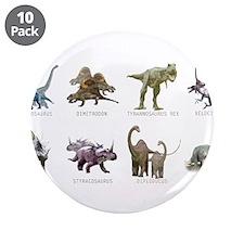 """Cute Dinosaur 3.5"""" Button (10 pack)"""
