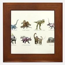 Cute Tyrannosaurus rex Framed Tile