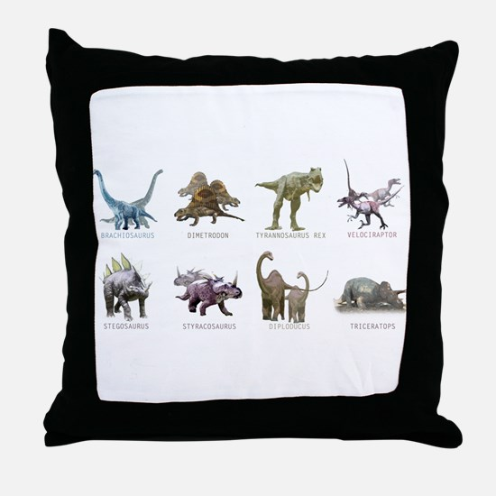 Cute Dinosaurs Throw Pillow
