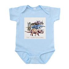 3-ceratopsians.png Infant Bodysuit